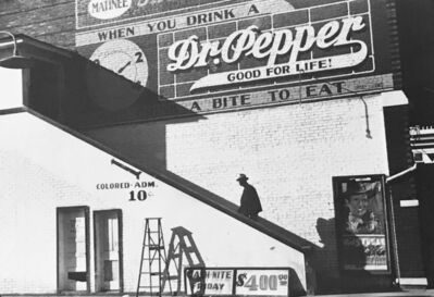 Marion Post Wolcott, 'Man Entering Movie Theatre by 'Colored' Entrance, Belzoni, Mississippi, in the Delta Area', 1939