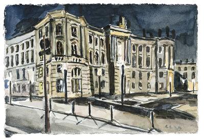 Christopher Lehmpfuhl, 'August-Bebel-Platz bei Nacht', 2020