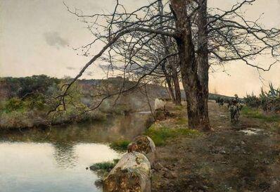 Emilio Sanchez-Perrier, 'Tranquil River, Alcala', 1886