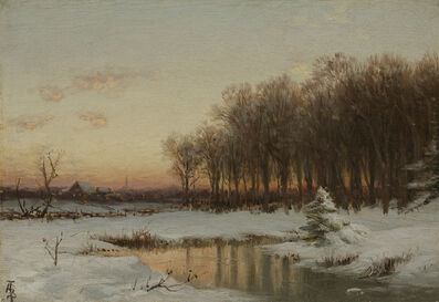 Alfred Thompson Bricher, 'Winter Sunrise', Date Unknown