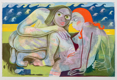 Sara Anstis, 'The hanging rings are removed allowing the two out of the netting, and the lusty maids have found their favourite', 2018