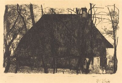 Wilhelm Leibl, 'Farmhouse', 1875/1877