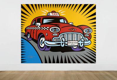 Burton Morris, 'Friends - Taxi Cab', 2019