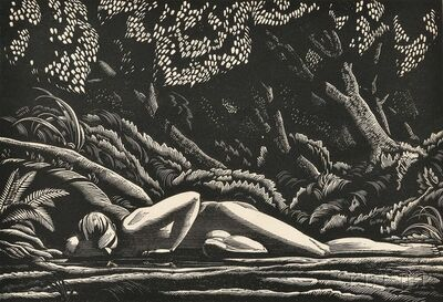 Rockwell Kent, 'Forest Pool', 1927