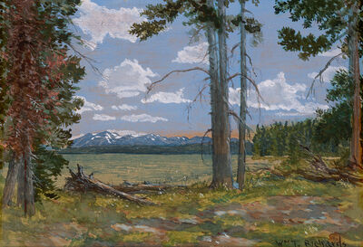William Trost Richards, 'Yellowstone Lake (Mt. Sheridan in the Distance)', Date Unknown