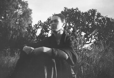 Lucienne Bloch, 'Frida with the Cactus', 1932