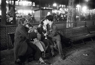 Sabine Weiss, 'Couples Amoureux, Place République', 1955
