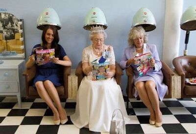 Alison Jackson, 'Queen, Camilla and Kate at Hair Salon', 2011