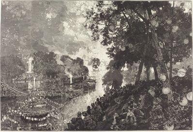 Auguste Lepère, '14 Juillet.  Illumination du Bois de Boulogne'