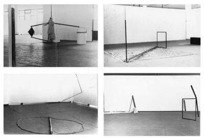 """Arte/Ação (Genilson Soares & Francisco Iñarra), 'Documentação da instalação """"Arqueologia do Urbano"""", apresentada na XIV Bienal Internacional de São Paulo, Brasil.', 1977"""