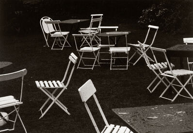 Dick Arentz, 'Chairs and Tables, Lynmouth, England', 1980