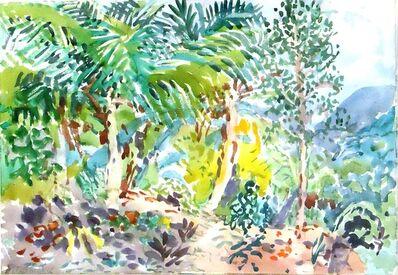 Nell Blaine, 'Three Palms on a Hillside', 1965