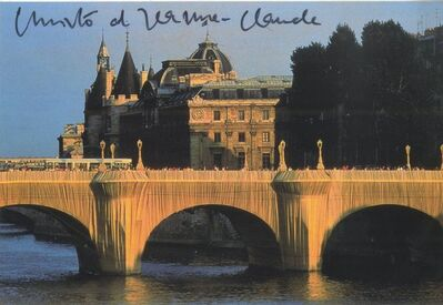 Christo, 'The Pont Neuf Wrapped IV (Hand Signed) from the Estate of Aviva and Jacob Bal Teshuvah - friends and authors of Christo books', 1985