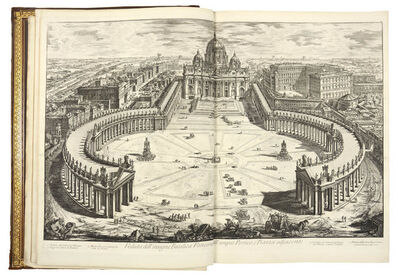 Giovanni Battista Piranesi, 'Vedute di Roma. [Bound with] PIRANESI, Francesco. Topografia delle fabriche scoperte nella cittá di Pompei.', circa 1778 and 1785.