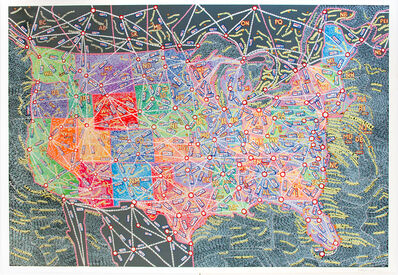 Paula Scher, 'USA Distances', 2019