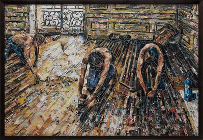 Vik Muniz, 'Floor Scrapers, after Gustave Caillebotte from Pictures of Magazines 2'