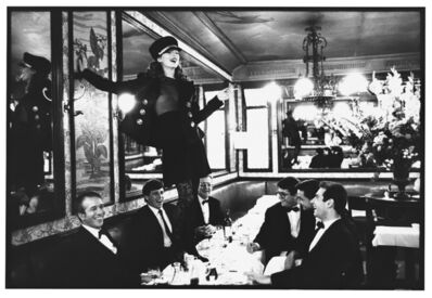 Arthur Elgort, 'Kate Moss, Cafe Lipp, Paris, VOGUE Italia', 1993