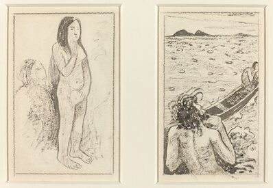 Paul Gauguin, 'Parau No Te Varau Ino (left); Tahitian Legend (right)', ca. 1890/1895