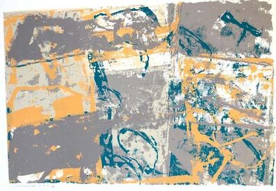 Walter Darby Bannard, 'Large Modern Miami Abstract Expressionist Screenprint Lithograph', 1980-1989