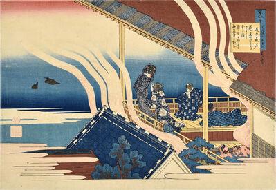 Katsushika Hokusai, 'The Hundred Poems [By the Hundred Poets] as Told by the Nurse: Fujiwara no Yoshitaka'