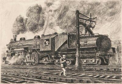 Reginald Marsh, 'Loco - Erie Watering', 1929