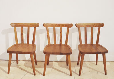 "Axel Einar Hjorth, 'Set of five curved ""Utö"" chairs in Nordic pine for Nordiska Kompaniet', ca. 1932"