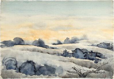Kakunen Tsuruoka, 'untitled (mesquite and brush in rolling hills)', ca. 1942-44