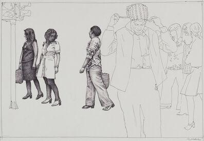 "Rudolf Häsler, 'Entwurf zu Serie Ramblas ""Semáforo en rojo""', not dated"