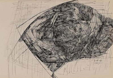 "Ram Kumar, 'Untitled, Pen & Ink on Paper by Modern Artist ""In Stock""', 1961"