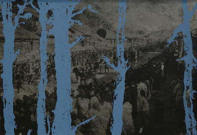 Chang Song, 'The March of Japanese Army in the Arrival to Busan', 1996