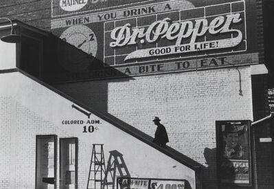 "Marion Post Wolcott, 'Man entering movie theater by ""Colored"" entrance', 1939"
