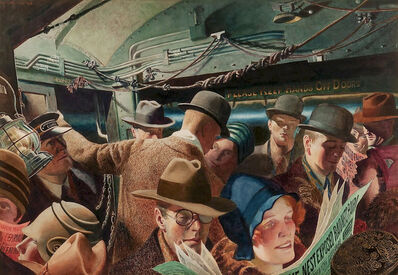 John Rutherford Boyd, 'In the Subway', 1928