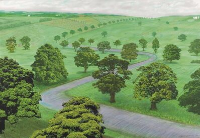 David Hockney, 'A Bigger Green Valley', 2008
