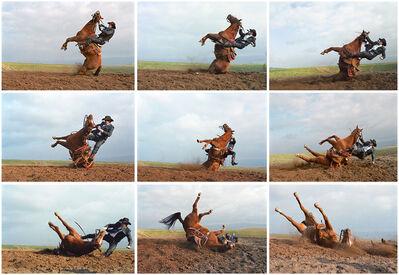 Laura Wilson, 'Stunt Cowboy Falling off Horse, Ventura County, California, February 20 (9 Images) '