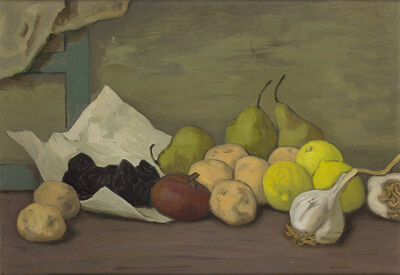 Ruggero Alfredo Michahelles (RAM), 'Still life with fruit and cloves of garlic'