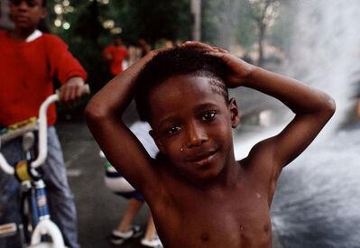 Joseph Rodriguez, 'Boys play at the fire hydrant, Spanish Harlem, NY', 1988
