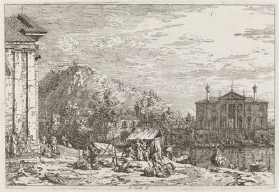 Canaletto, 'The Market at Dolo [lower left]', ca. 1735/1746