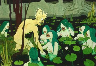 """Jack Bride, 'Call For Submission (after Waterhouse's """"Hylas and the Nymphs"""")', 2018"""