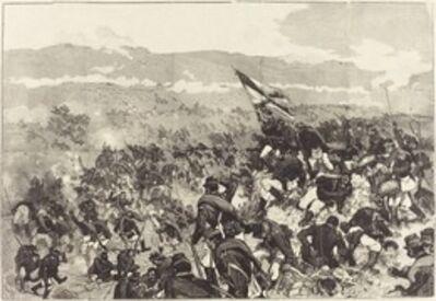 Daniel Vierge, 'Bataille de Plevna.  Le 30 Juillet, Attaque des Hauteurs...', 1883/1890