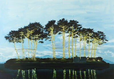 Kim Sang Kyun, 'Pine Trees with light bulb    ', 2015