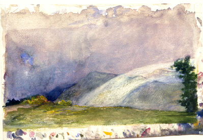 John La Farge, 'Behind the House, Nuuanu Valley, Honolulu, Rainbow on Mountains.', 1890