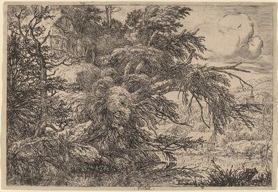 Jacob van Ruisdael, 'Cottage on a Hill'