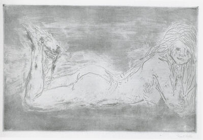 Emil Nolde, 'Akt mit wippenden Beinen ', 1908