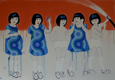 Louise Allen, 'Girls with Hosepipe', 2020