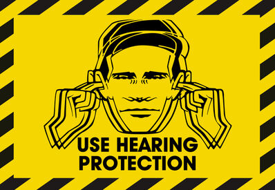 Peter Saville, 'Use Hearing Protection', 2019