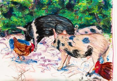 Bill Sullivan, 'Untitled (Pigs and Chickens)', 1985