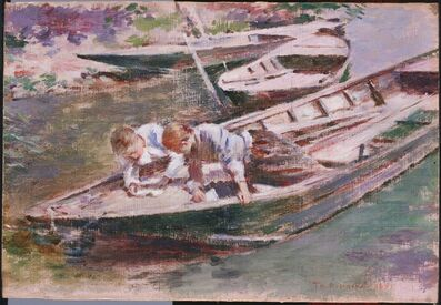 Theodore Robinson, 'Two in a  Boat', 1891