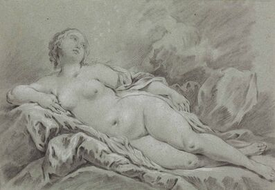 Attributed to Pierre-Charles Le Mettay, 'A reclining female nude'