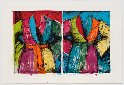 Jim Dine, 'Two Florida Bathrobes', 1986