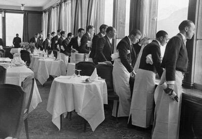 Alfred Eisenstaedt, 'Waiters watching Sonia Henie skate, St. Moritz', 1932